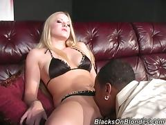White Girl Get Slammed and Takes an Interracial Creampie