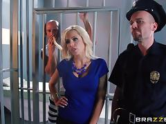 Convict is fucking this busty blond siren Nina Elle