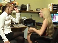 Larin Lane And Desire Moore Have Lesbian Sex At The Office