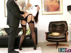 Mature whore in stockings