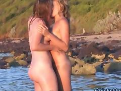 Hairy Aus lesbians tribe on the beach