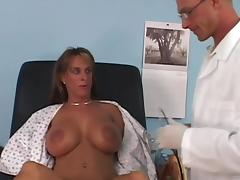 Busty MILF Holly Halston gets punished by horny doctor