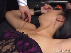 Funny Asian Chick With Natural Tits Gets Her Pussy Fingered