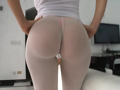 Amazing Solo Model In Tights Pose Lovely In A Hot Ass Compilation Shoot