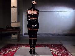 masked slave must endure nipple torture