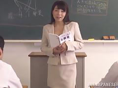 Japanese hot ass teacher Kimika Ichijou gets nasty for a hot fuck