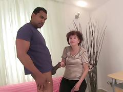 Franco Roccaforte lets depraved granny Marcelina suck and ride his BBC