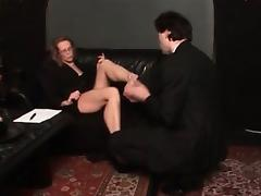 Horny blonde bitch goes crazy part1