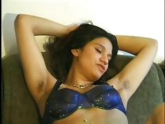 Hairy Latina with armpits solo