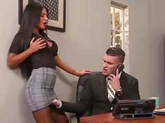 Office porn with stunning Elicia Solis