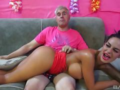 Angelina Valentine gets her shaved pussy pounded deep
