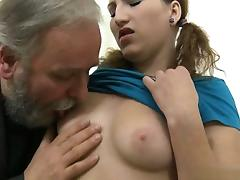 Horny daughter   cum on pussy